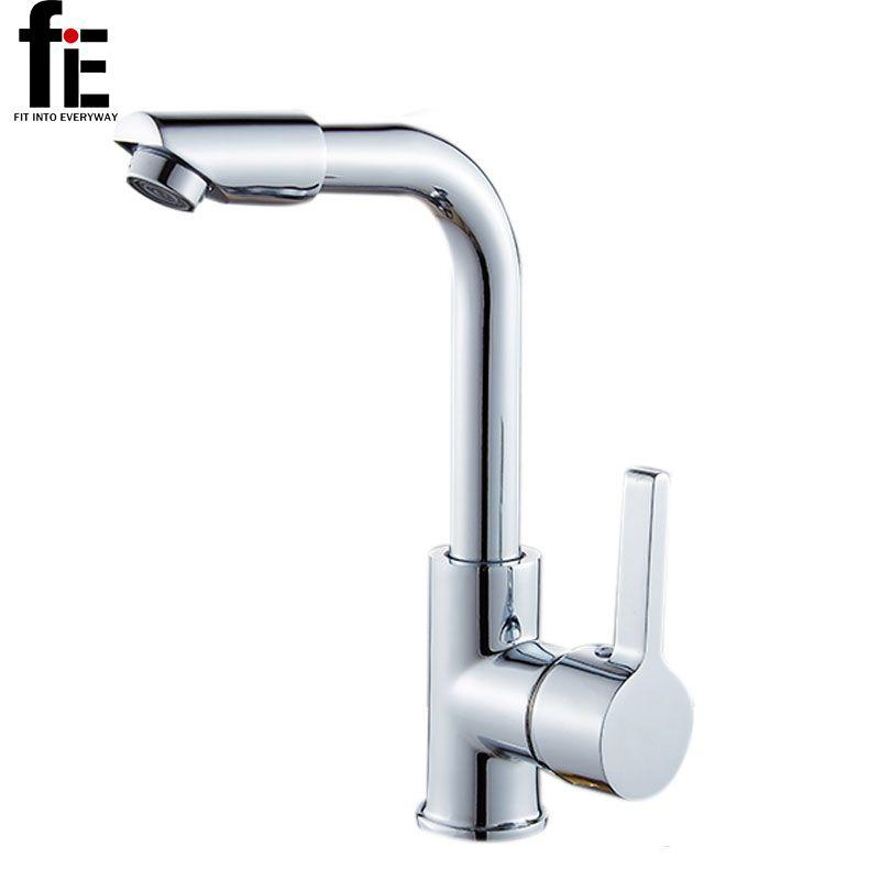 FIE Смесители для ванной комнаты смеситель 360 градусов поворотный легко мыть для бассейна раковины и Кухня кран