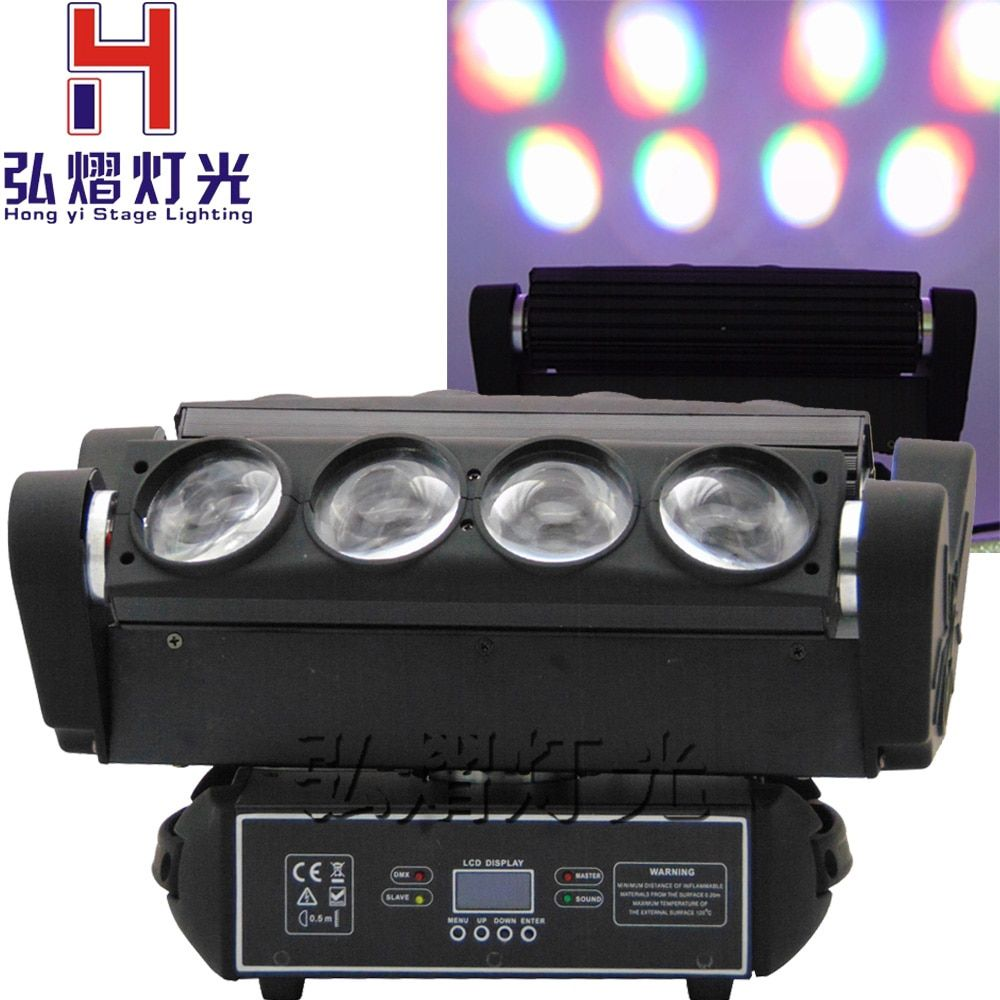 1 Pcs/lot 8x10W RGBW 4IN1 LED Spider Beam Moving Head Light disco beam rotating led moving head spider light