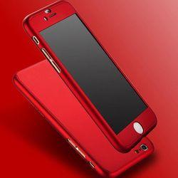 2018 Hybride PC Dur Dropproof Métal Cas de Sentiment 360 Complet Du Corps couverture + Trempé Verre Pour capinhas iPhone 8 6 s 7 plus iPhone6 Cas