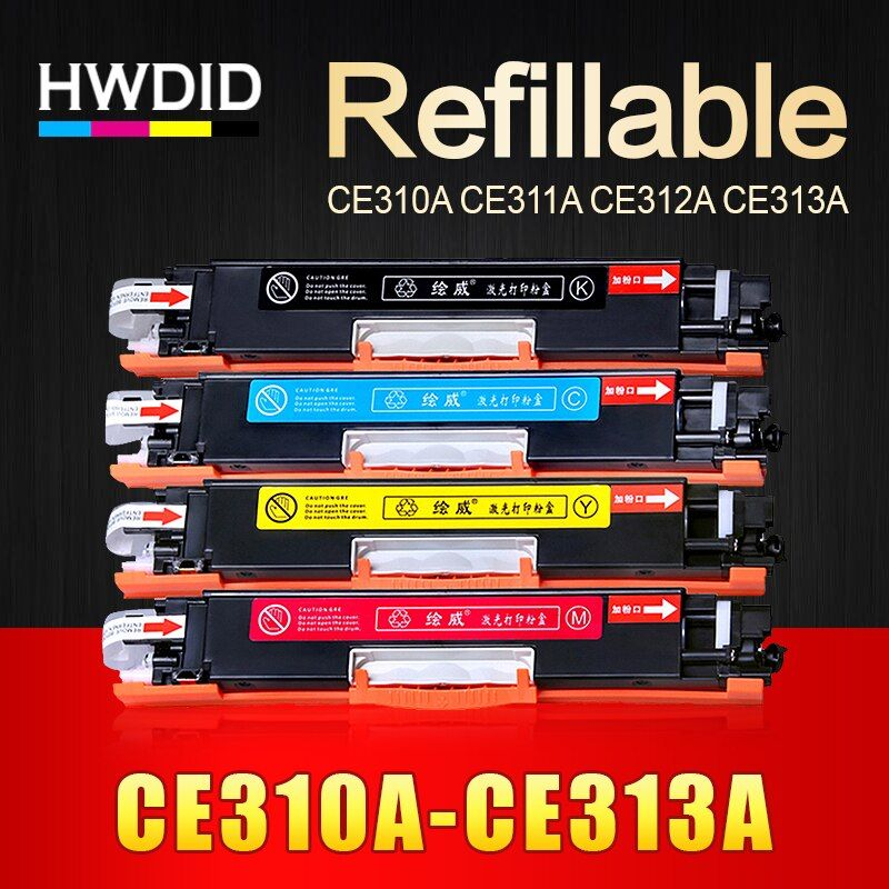 HWDID 1pcs CE310A CE311A CE312A CE313A Compatible Color Toner Cartridge 126A for HP Laser CP1025 CP1025nw M275mfp M175a M175nw