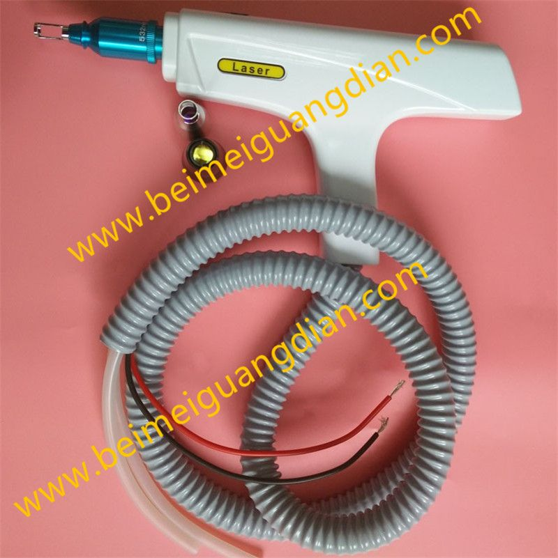 Professional Nd Yag Laser Handle for Tattoo Eyebrow Removal Machine with 532 1064 Black Doll Treatment