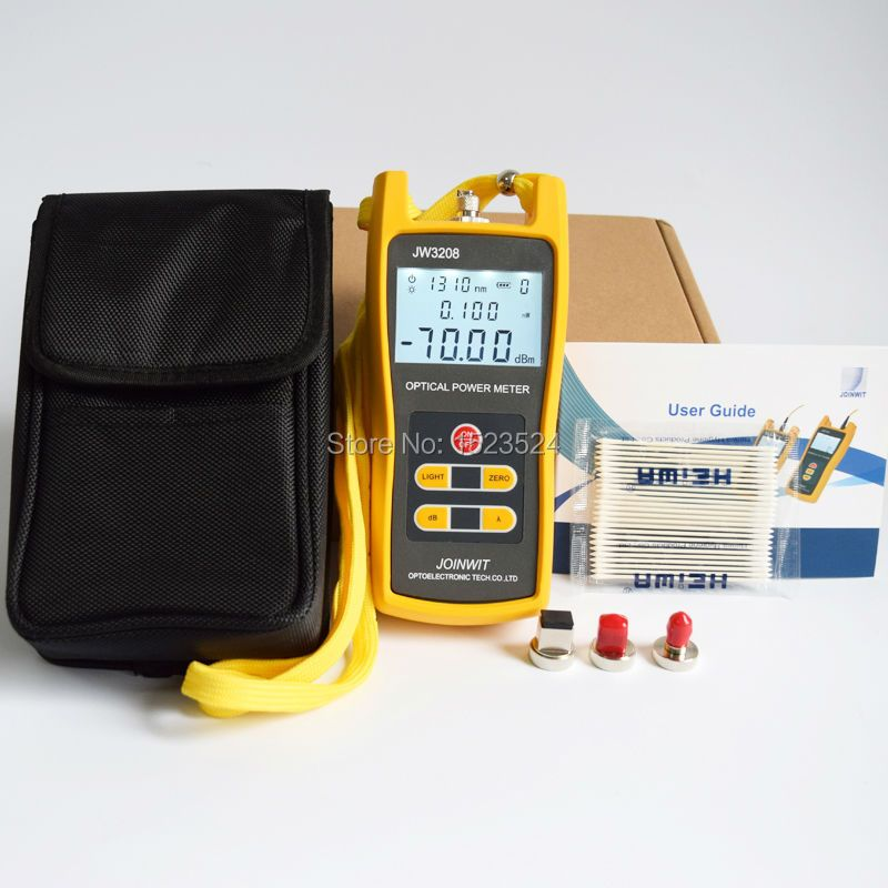 Telecommunication -70 +6dBm JW3208A  Handheld Optical Power Meter Fiber Optic Tester with FC SC ST LC Connector
