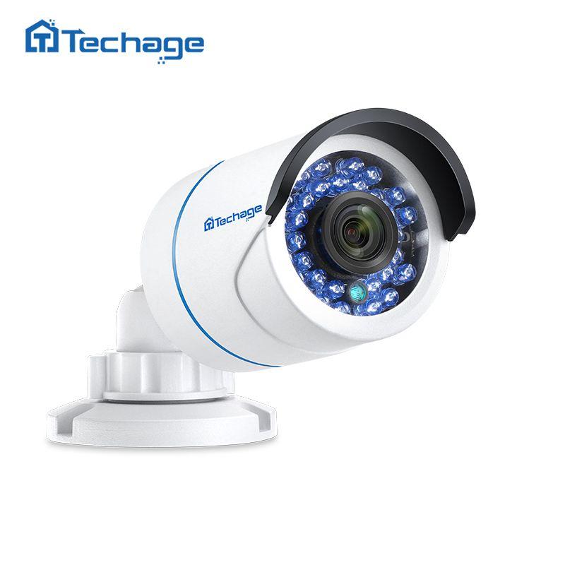 Techage 720P <font><b>960P</b></font> 1080P 48V POE IP Camera 2MP Outdoor Waterproof IR Night P2P ONVIF Video Security Surveillance CCTV POE Camera