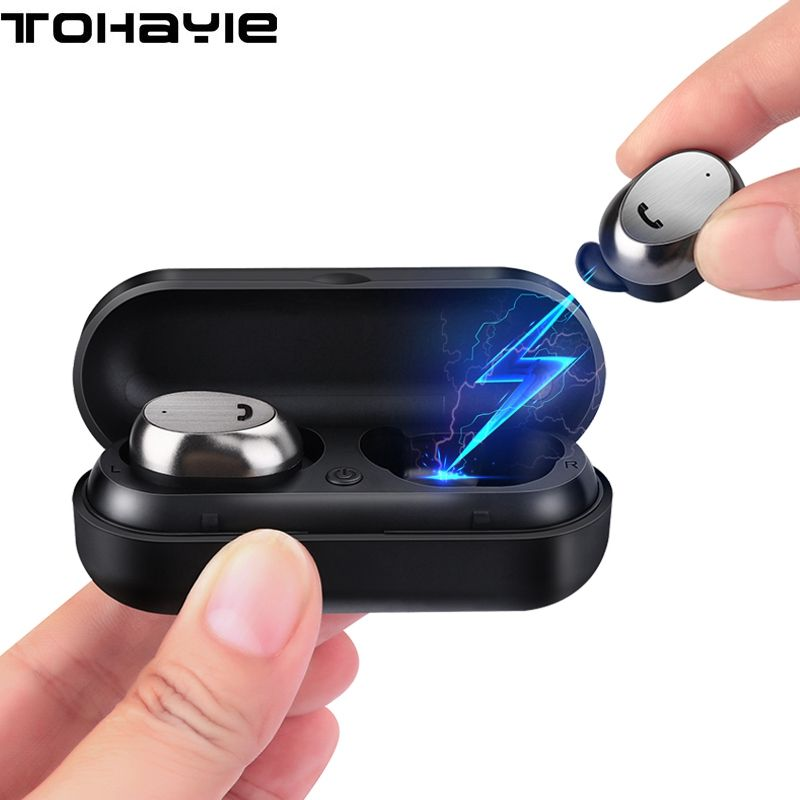 ToHayie M9 TWS True Wireless Earphone Headset Auriculares Bluetooth Earphone Buds With Mic Mini Music Earbuds Earpiece For Phone