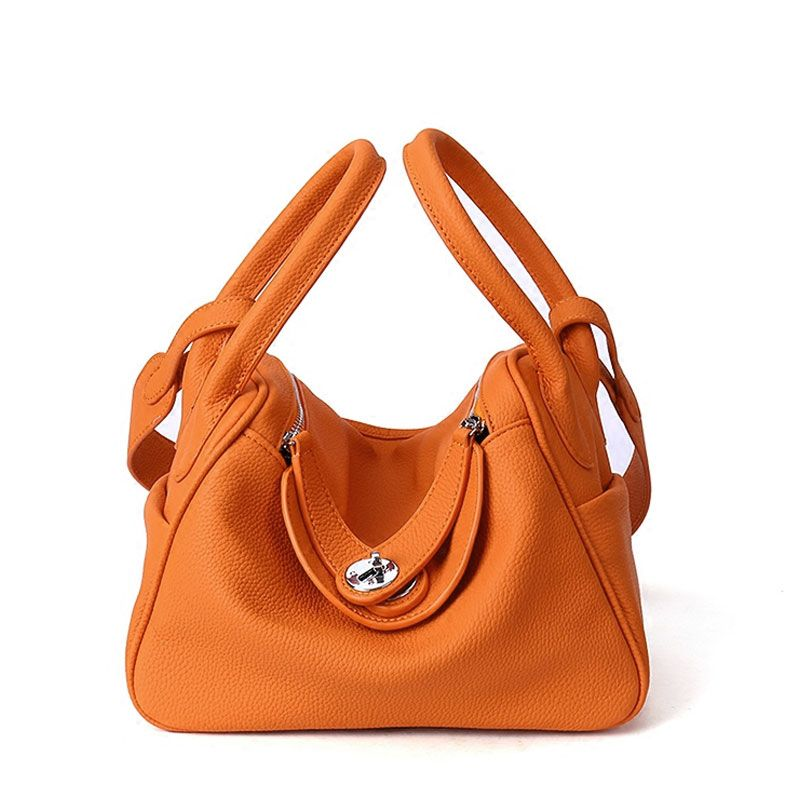 2018 Cow Genuine Leather Famous Designer Women Casual Tote Bags Handbags Hobo Shoulder Bag Solid High Capacity Hobos Bags Purse
