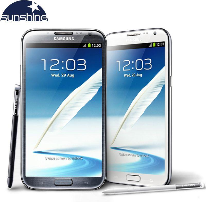 Original Unlocked Samsung Galaxy Note 2 II N7100 N7105 Mobile Phone 5.5