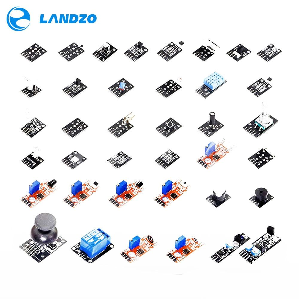 37 IN 1 SENSOR KITS FOR ARDUINO HIGH-QUALITY For Arduino Starters (<font><b>Works</b></font> with Official for Arduino Boards)