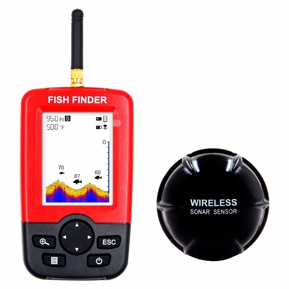 Free Shipping Hot Sale Alarm 100M Portable Sonar LCD Wireless Fish <font><b>Finder</b></font> Fishing lure Echo Sounder Fishing <font><b>Finder</b></font> fishfinder