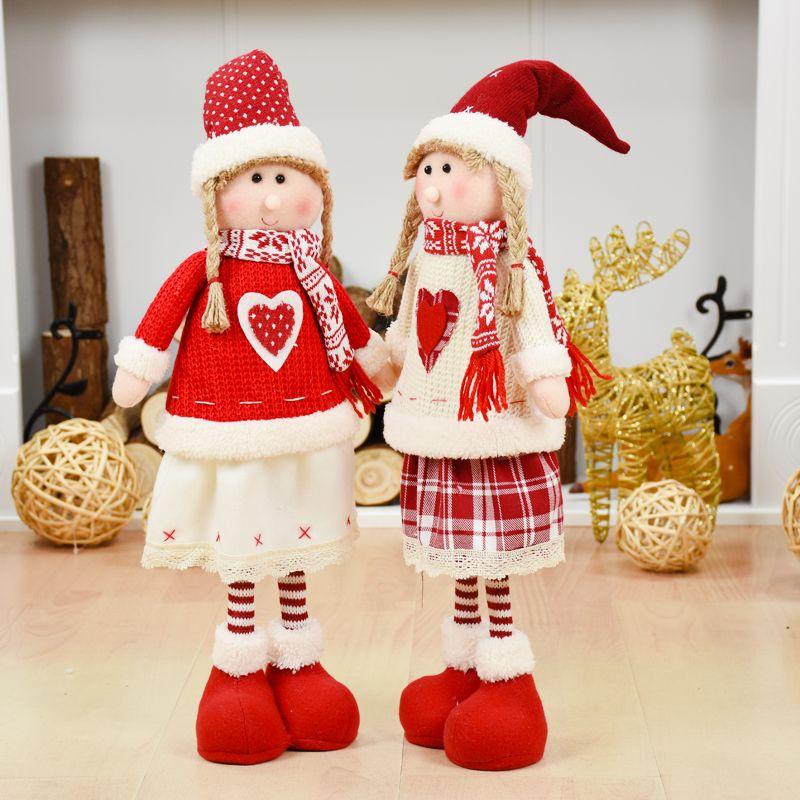 Christmas Gift Toys Gift Adornos Navidad Xmas Dolls Christmas Standing Dolls Xmas Tree Ornament Home Cupboard Figurines Natal