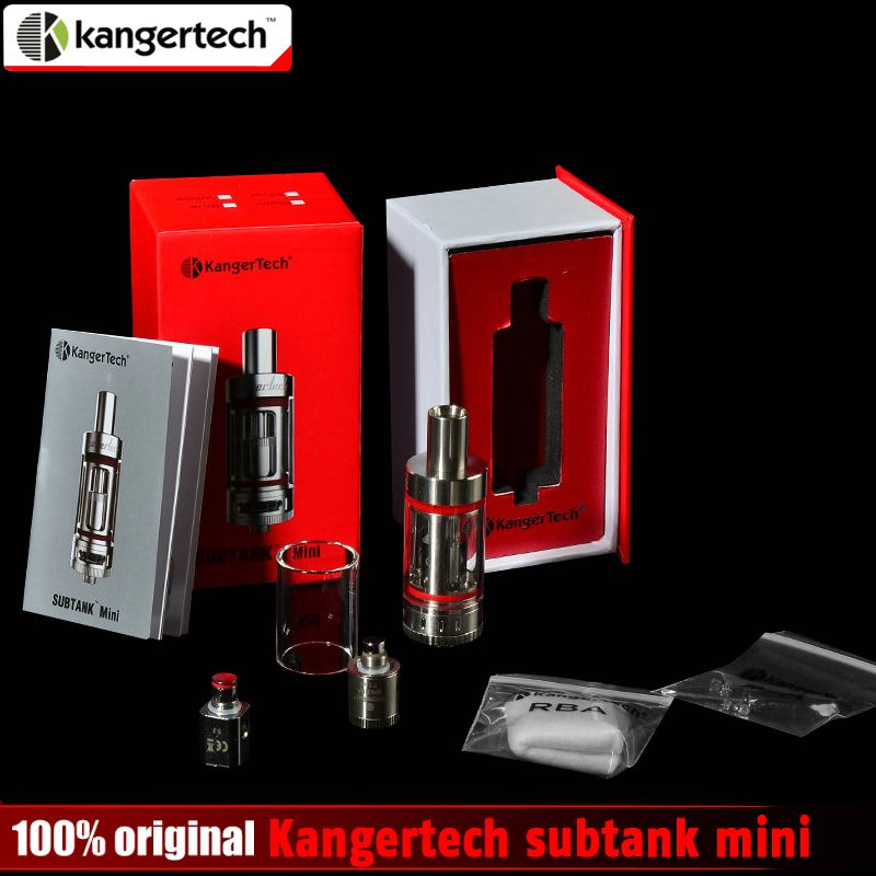Promotion 100% Original Kangertech subtank mini atomizer with OCC coil 0.5ohm 1.2ohm 4.5ML kanger subtank mini RBA Tank in stock