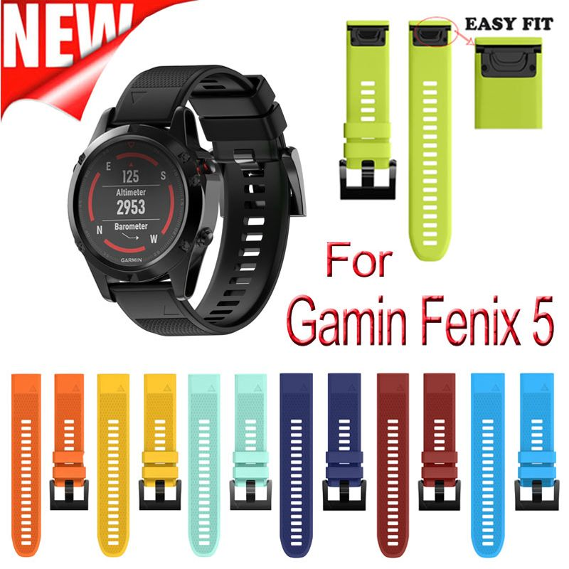 Outdoor Sport Strap with Easy Fit Silicone Watchband for Garmin Fenix 5/Forerunner 935 Replacement strap for Garmin 22mm Band