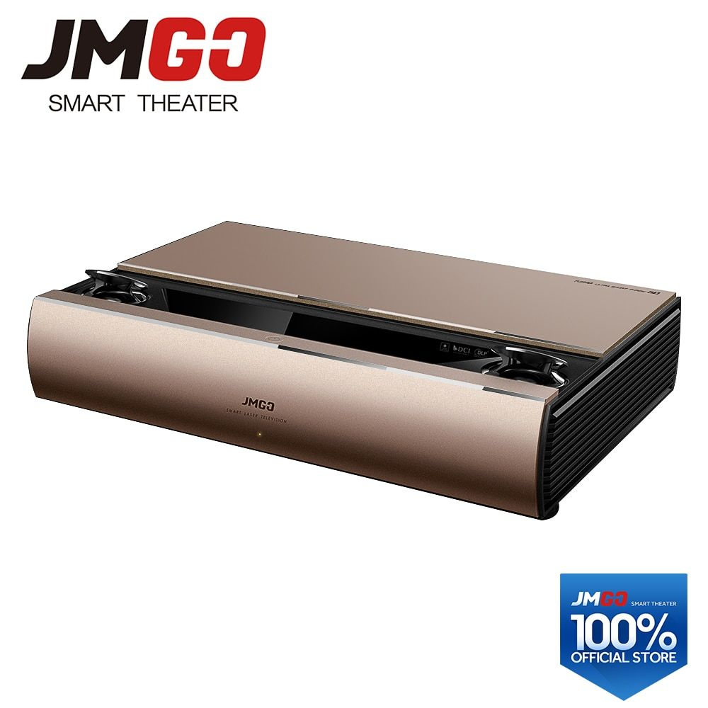 JMGO SA, Laser Projector, 1920x1080p, 2200 ANSI Lumens, Full HD Android Beamer, WIFI Proyector, Bluetooth Speaker, 3D Projector