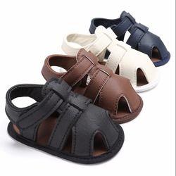 Puseky d'été shoes bébé garçons en cuir souple sandales babs garçons d'été prewalker semelle souple en cuir véritable sandales de plage