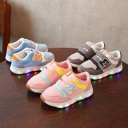 Детская обувь со светящимися кроссовками светодио дный со подсветкой с подсветкой кеды с подсветкой Мальчики Девочки Детская обувь светящ...