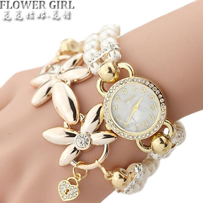FLOWER GIRL Brand New Quartz Watch Women Watches Ladies Luxury Bracelet Wrist Watch Female Clock <font><b>Montre</b></font> Femme Relogio Feminino