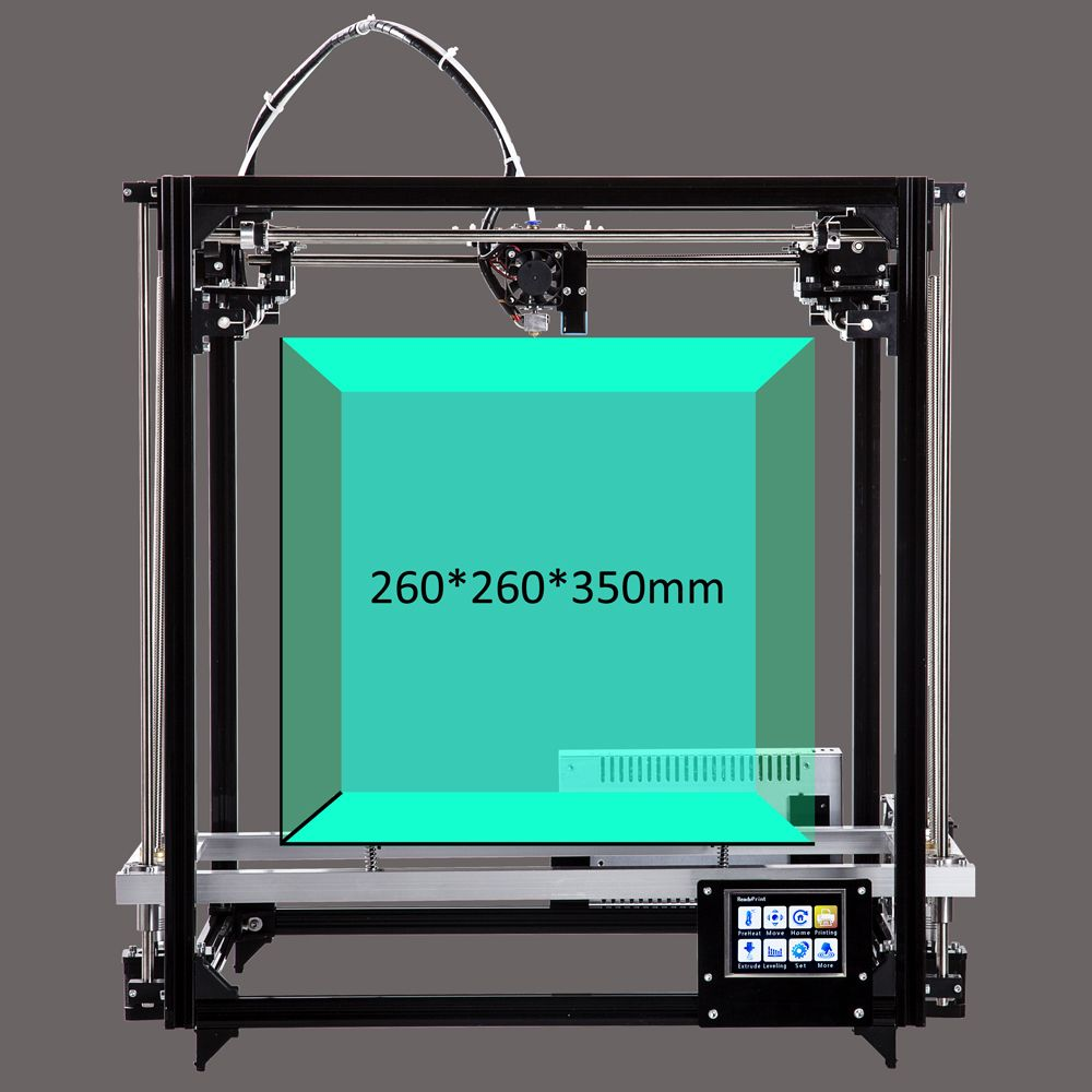 Flsun Square 3D Printer Large Printing Area 260*260*350mm Auto Leveling Heated Bed 3.2 Inch Touch Screen Two Rolls Filament Kit