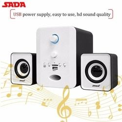 SADA D-223 Wireless Bluetooth 2.1 Stereo Speaker Indoor Combination Speaker SupportTF/U Disk FM Radio Music Player
