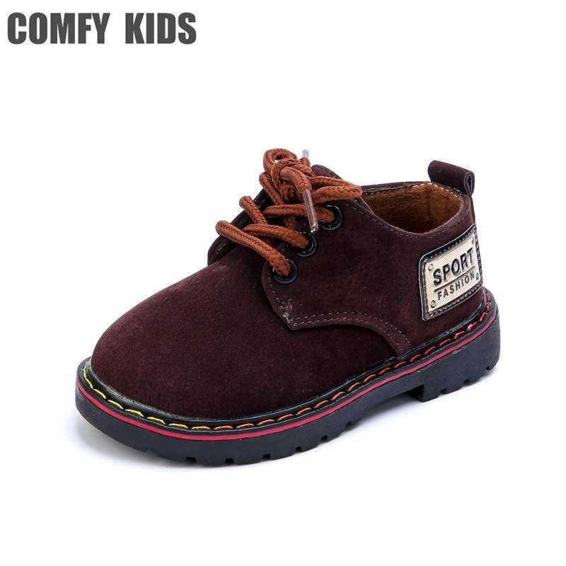 Niños cómodos nuevas llegadas bebé niño inferior suave de los zapatos de cuero moda tamaño 21-25 bebé niño niños cuero plana con zapatos