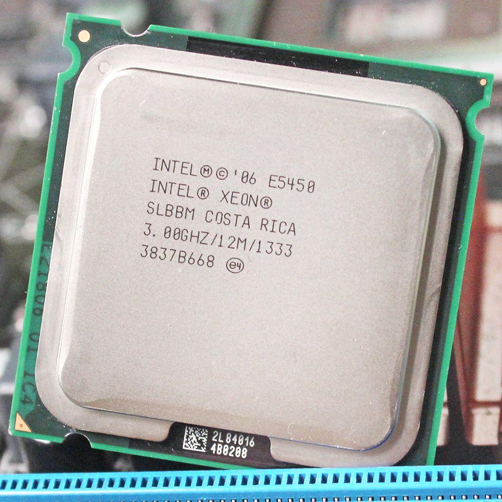 Processeur INTEL XEON E5450 processeur intel E5450 quad core 4 core 3.0 MHZ LeveL2 12 M travail sur carte mère LGA 775