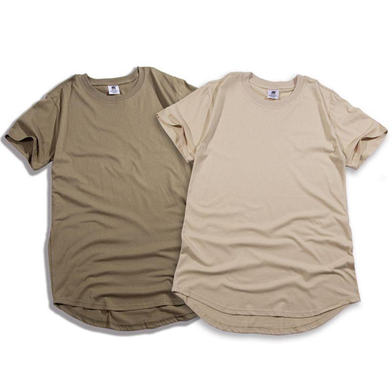 Mode solide Arc coupe courte taille Eur hip hop t-shirts hommes couleur pure hommes vêtements hommes hip hop vêtements streetwear