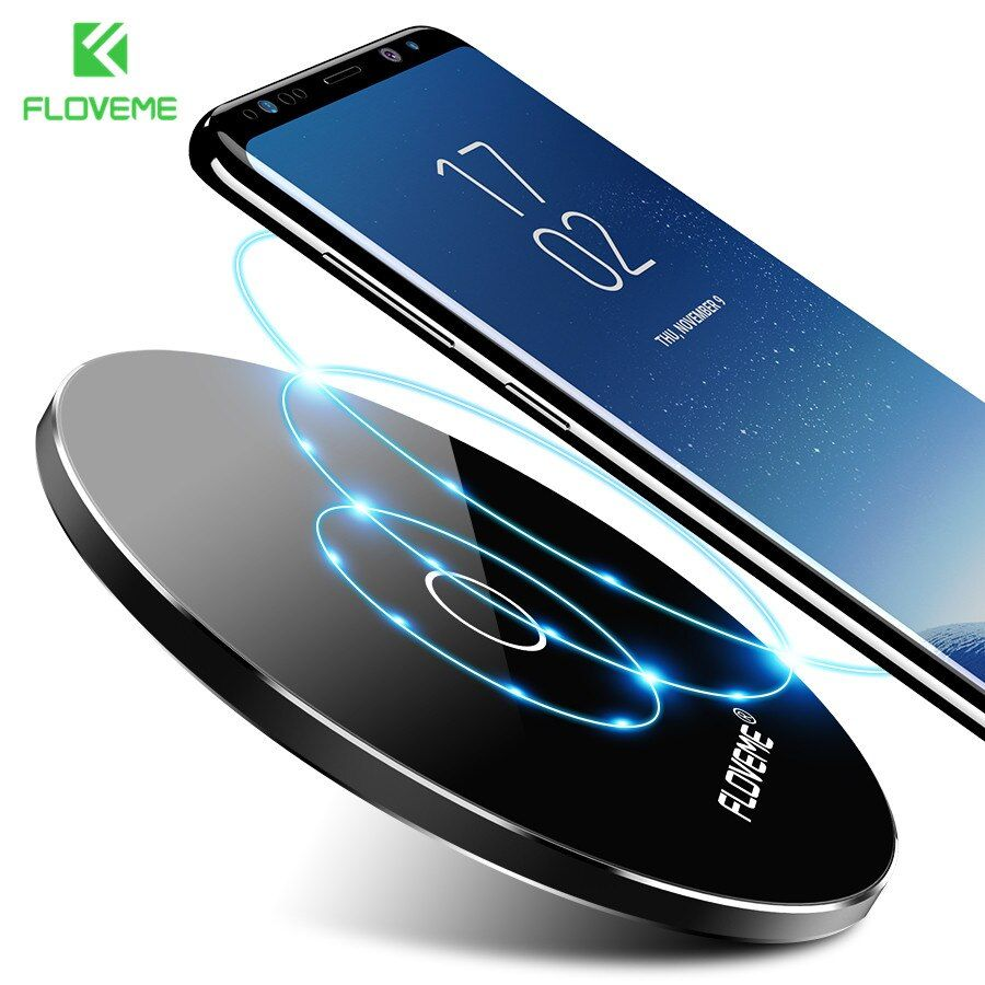 FLOVEME Qi Wireless Charger For Samsung S8/S8 Plus Fast Wireless Charger For iPhone 8 X Quick Charge Stand For Galaxy S6 S7 Edge