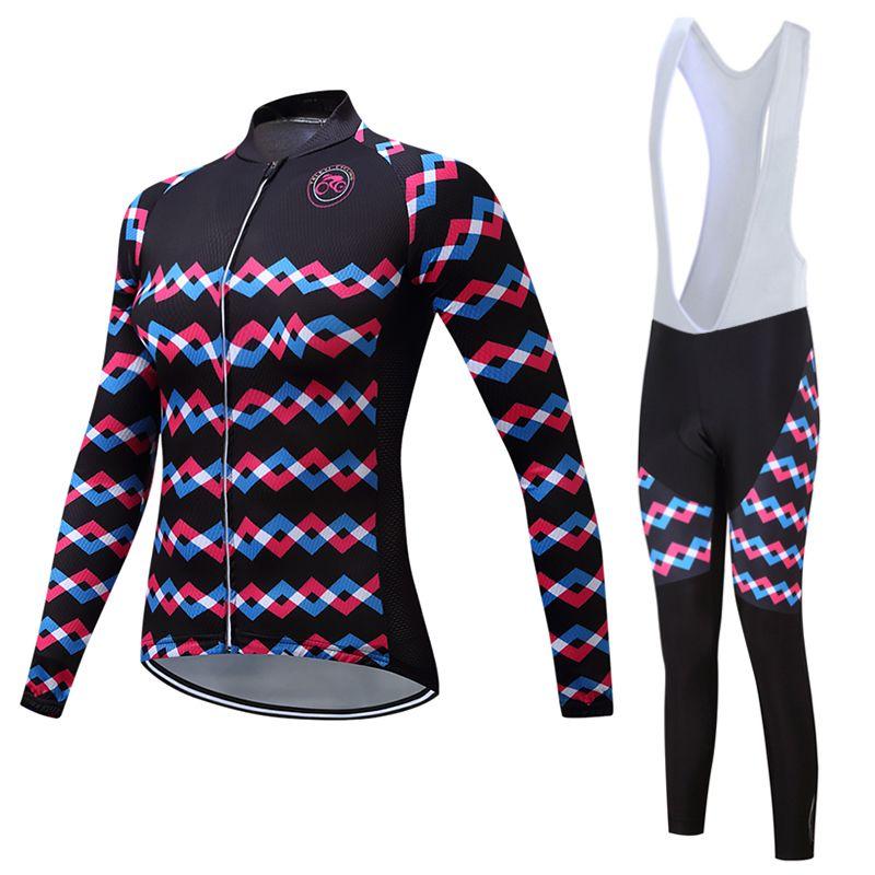 Frauen Teleyi 2018 Radfahren Jersey Mtb Mountain Bike Wear Kleidung Lustige Cartoon Fahrradkleidung Weiblichen Skinsuit Maillot Uniform
