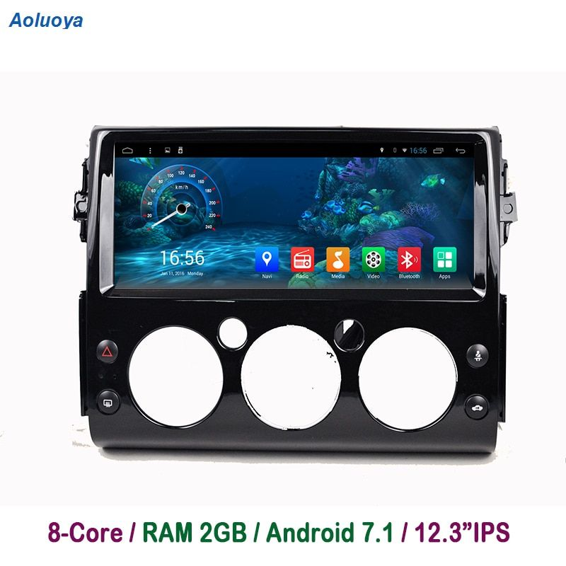 Aoluoya 2 GB RAM Octa Core Android 7.1 Auto DVD Player Für Toyota FJ Cruiser 2007 2008 2009 2010 2011- 2016 Radio GPS Navigation BT