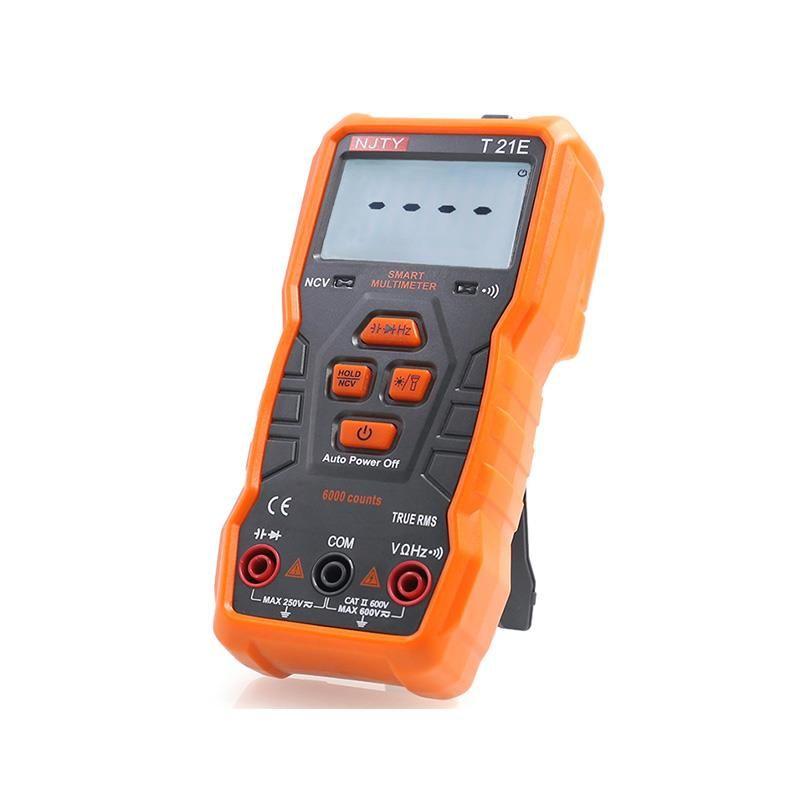 TY T21A/D/E NCV multimètre numérique 6000 compte de mesure automatique AC/DC tension mètre Flash lumière rétro-éclairage grand écran comme RM113D