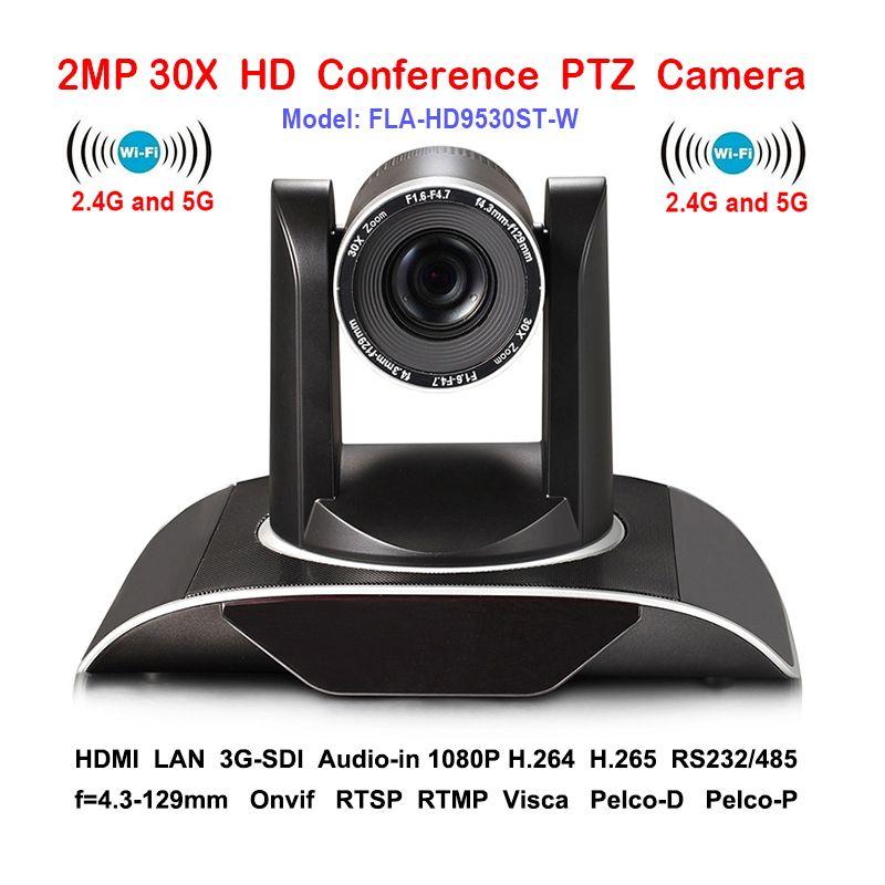 2MP 30 xOptical Zoom IP PTZ Konferenz kamera Wifi Drahtlose mit DVI 3G-SDI Ausgänge