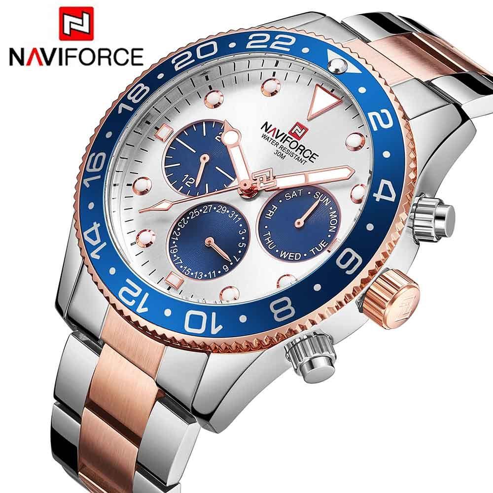 Top Luxury Brand NAVIFORCE 2018 New Men Military Waterproof Sport Quartz Watch Date Week 24 Hour display Clock Relogio Masculino