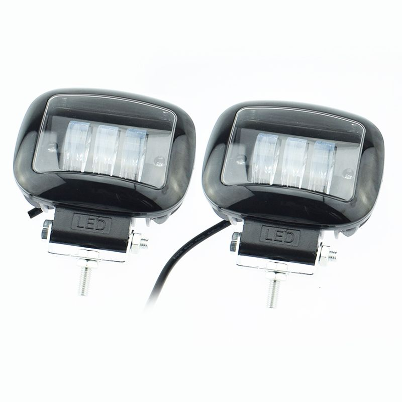 2pcs Autocycle headlamp led Auto auxiliary working lights 12v 2000lm 6500K Motorcycle head light 2000Lm Moto fog lamp