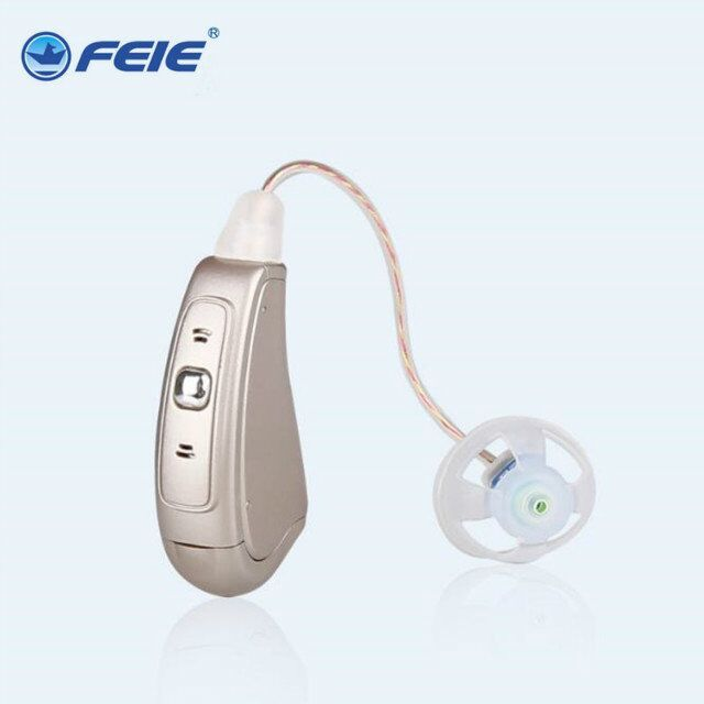 6 channel in ear Hearing Aid Audiophone MY-19 With Wire Programming cable Headphone Deaf for Hearing Impaired