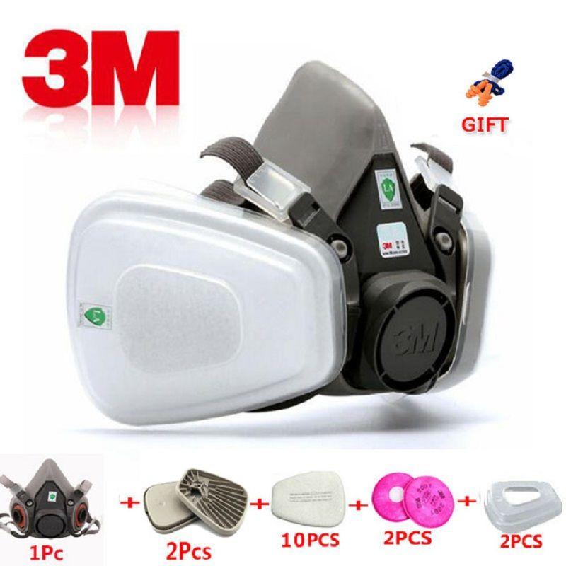 17 en 1 3 M 6200 industriel demi-masque peinture en aérosol masque à gaz Protection respiratoire sécurité travail anti-poussière masque respiratoire masque filtre