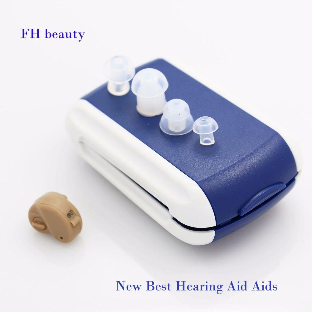 2017 nouvelle vente chaude Ite aide auditive Portable petit Mini dans l'oreille Invisible amplificateur de son réglable tonalité numérique sida soin