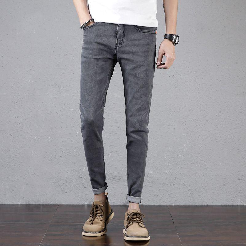 2019 nouveau printemps été jeans pantalon décontracté homme pieds neuf pantalon 26FY