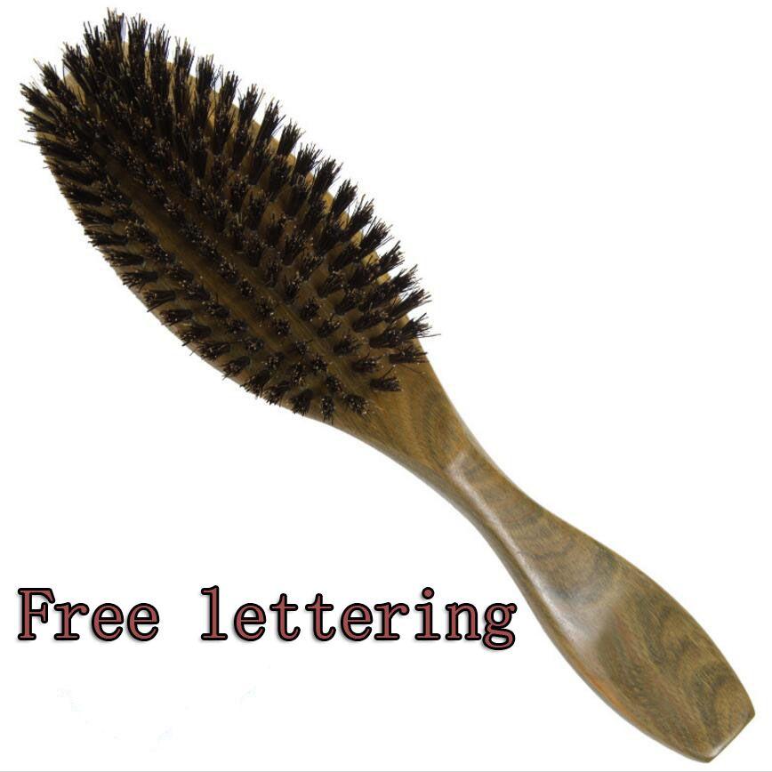 1 PC poils de sanglier en bois de santal Hairbruh peigne en bois brosse à cheveux manche en bois de santal vert peigne de soin des cheveux DE14