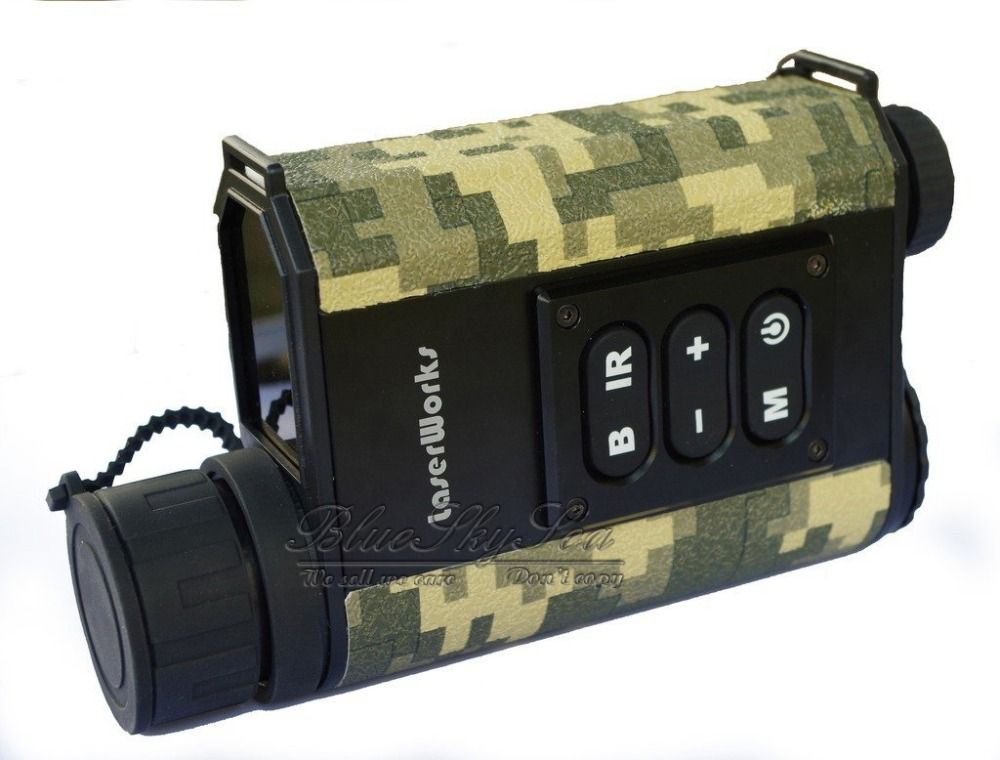 LaserWorks Mutifuctional 6X32 Night Visions Infrared IR Monocular Scope Scout Laser Rangefinders for Hunting Camping Army Green