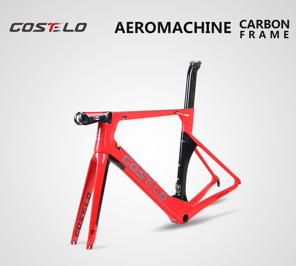 Costelo AEROMACHINE Monocoque carbon rennrad rahmen Costelo fahrrad bicicleta rahmen carbon fahrrad rahmen 50 52 54 56