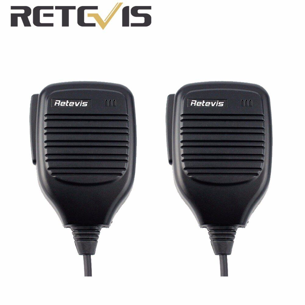 2pcs 2Pin PTT Speaker Microphone Walkie Talkie Mic Accessories For Baofeng BF-888S Retevis RT5R H777 For Kenwood Radio C9001