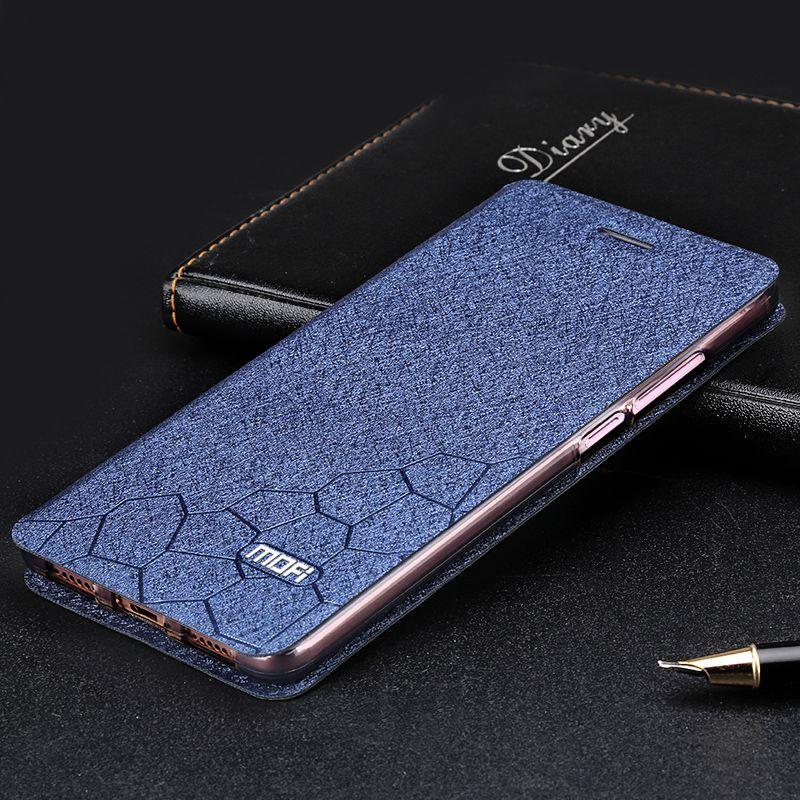 Pour Xiaomi redmi 4X cas 5.0 couverture coque silicone flip couverture en cuir d'origine Mofi Xiaomi redmi 4X Pro cas en métal foundas