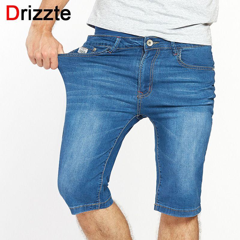Drizzte Для мужчин S Повседневное стрейч Синий Легкий Джинсовые шорты Для мужчин Джинсы для женщин летние джинсовые Для мужчин S Шорты для женщи...