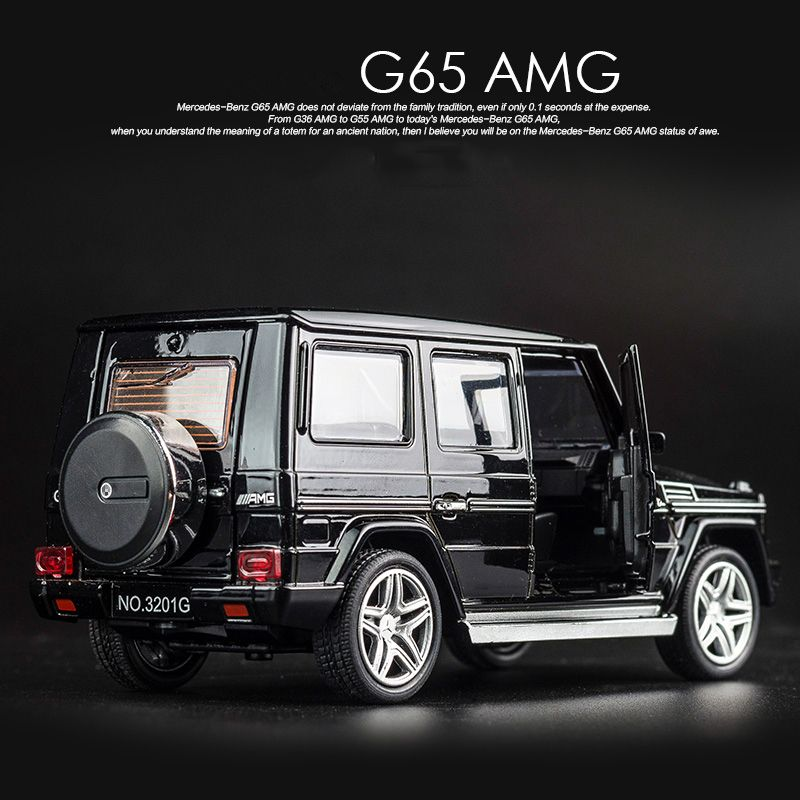 KIDAMI 1:32 Alloy MINI AUTO G65 SUV <font><b>Pull</b></font> Back Diecast car Model with sound light birthday Gift toy for children hot wheels