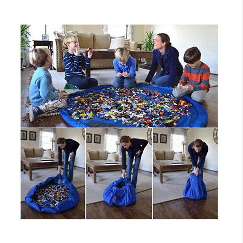 Portable Enfants Jouet Sac De Rangement et Tapis de Jeu Lego Jouets Organisateur Bin Boîte XL Mode Pratique De Stockage Sacs