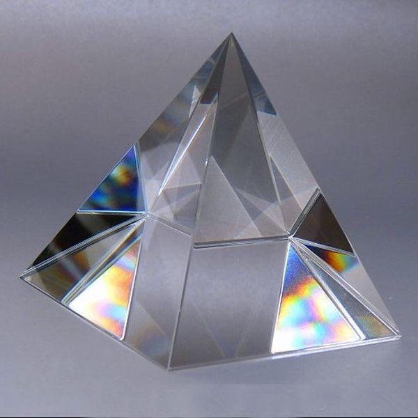 6 CM AAA K9 Pirámide Pisapapeles De cristal de piedra natural y 2.3 pulgadas minerales cristales Feng Shui Figurita Para la Oficina En Casa decoración
