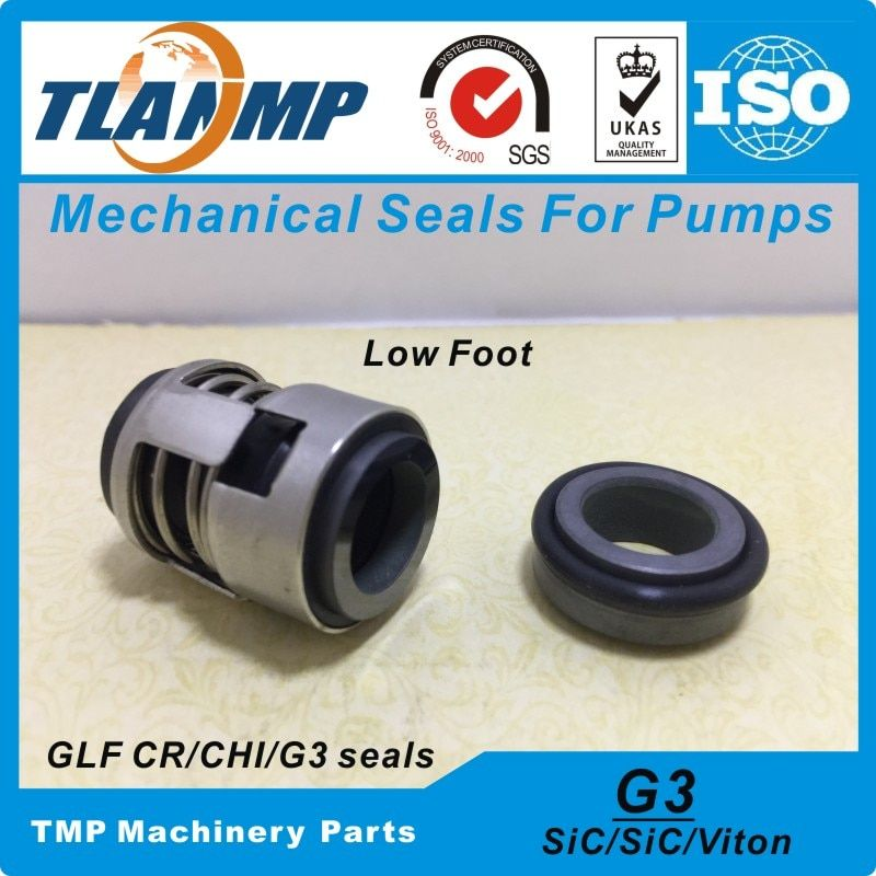 G3-12 , G03-12 , CHI-12 (Low Foot, Material:SiC/Viton) Mechanical Seal (Shaft Size 12mm) For CH,CHI,CHE,CRK,SPK,TP Water Pumps