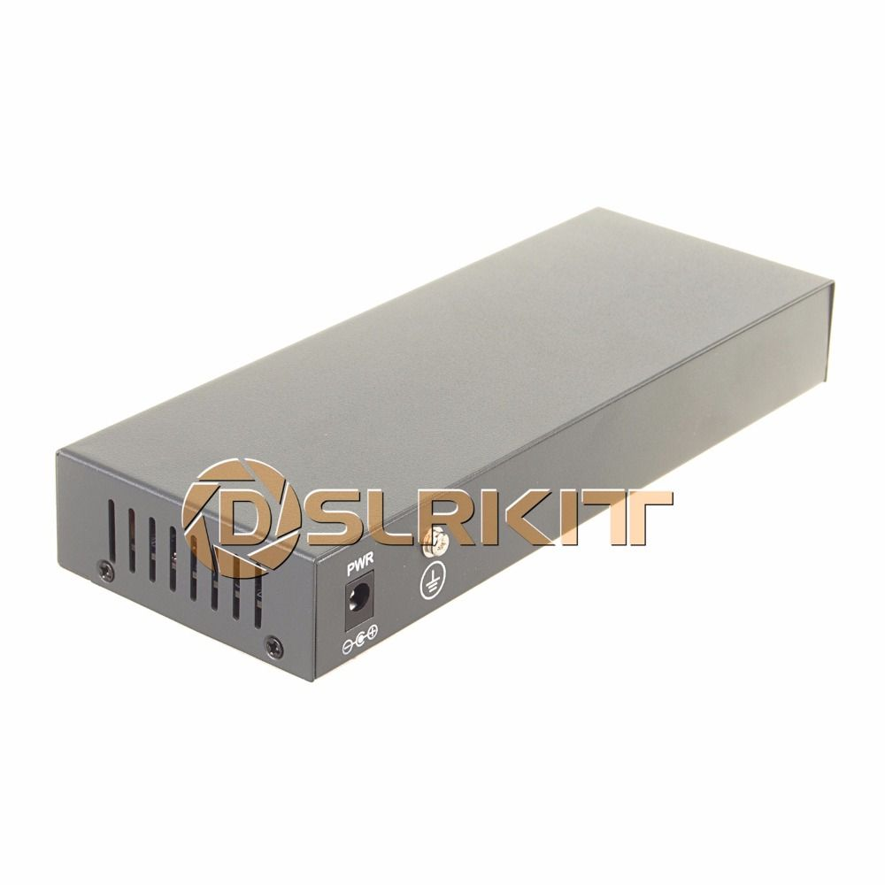 DSLRKIT 250M 10 Ports 8 PoE Injector Power Over Ethernet Switch without Power <font><b>Adapter</b></font>