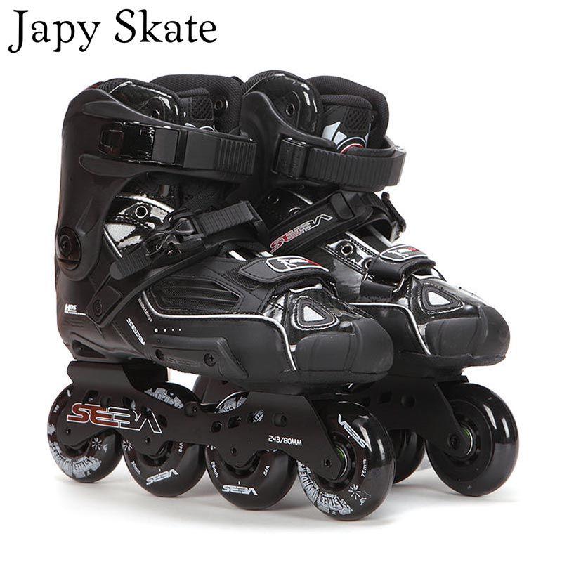 Japy Skate 100% Original SEBA High Deluxe HD Adult Inline Skates Black Roller Skating Shoes Slalom Slide FSK Patines Adulto