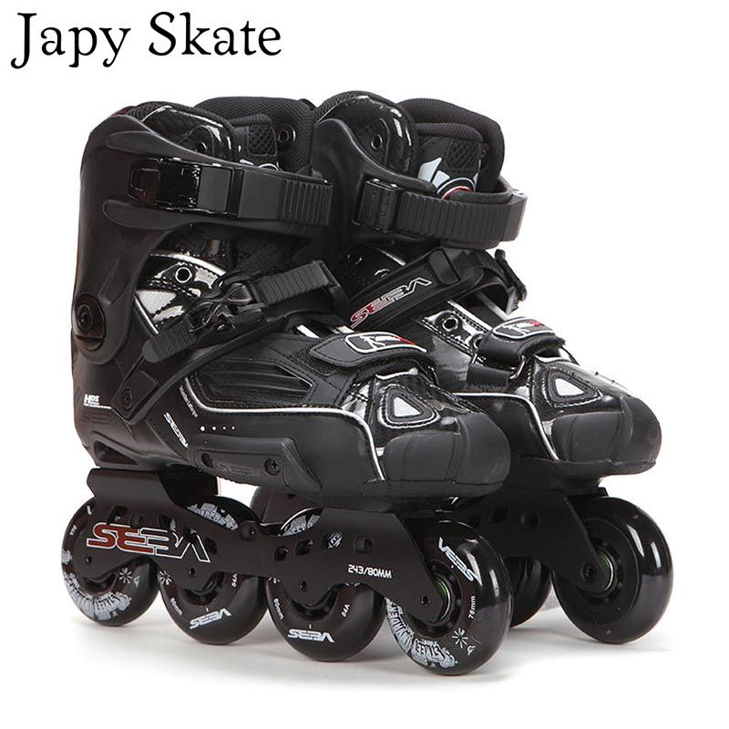 Japy Skate 100% Original SEBA High Deluxe HD Adult Inline Skates Black Roller Skating Shoes Slalom Slide FSK Patines Adulto