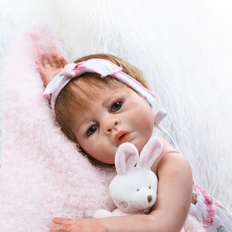 50 см полный силиконовые Средства ухода за кожей Reborn Baby Doll Игрушечные лошадки как настоящие купаться игрушка мягкая новорожденных Обувь для ...
