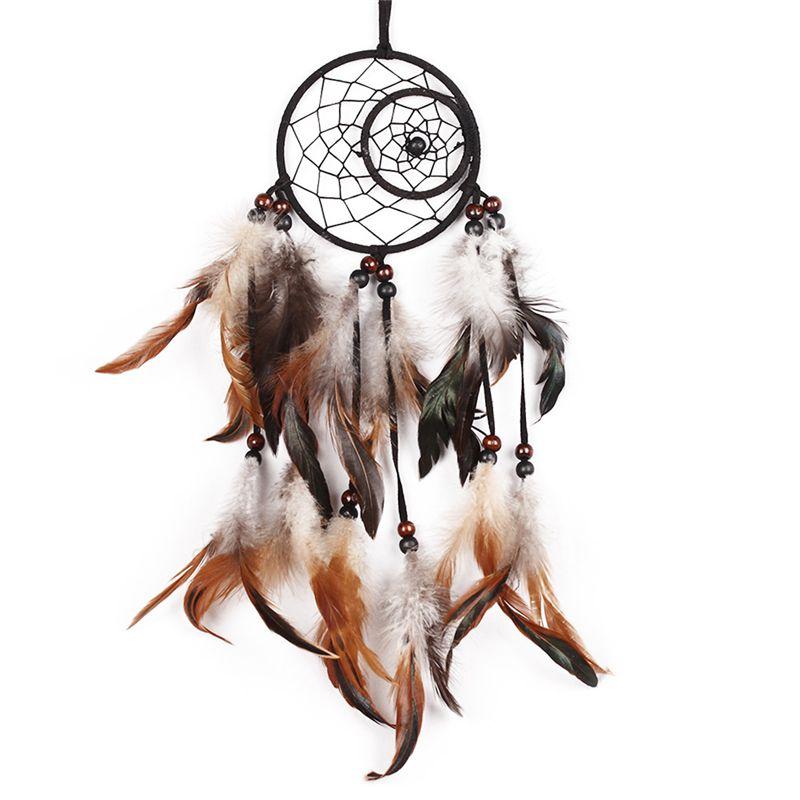 Новейшие Индии стилей ручной Ловца снов с перьями автомобиля стене висят украшения подарок номер Декор Ловец снов
